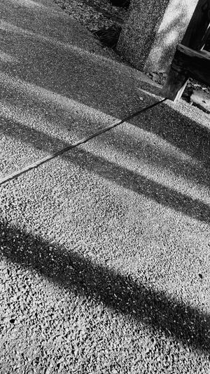 Full Frame Shadow Backgrounds Sunlight High Angle View Textured  Rough Focus On Shadow Pattern Paved