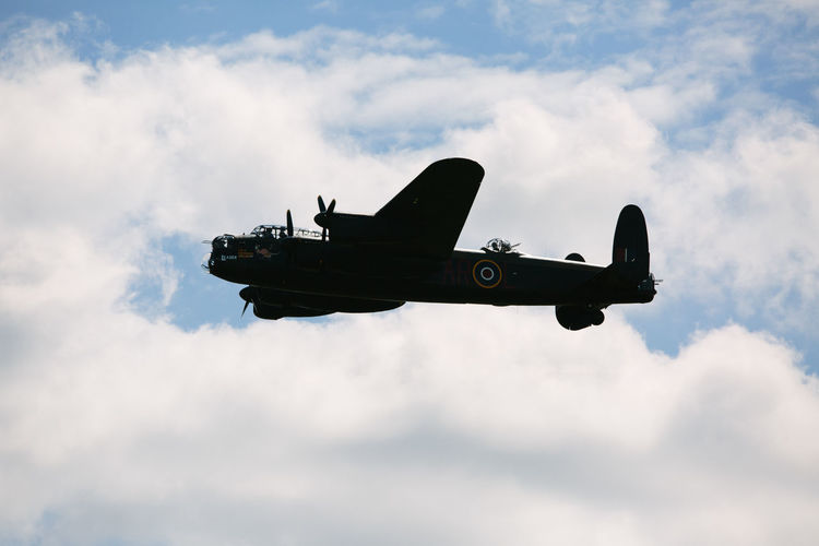 Air Force Air Vehicle Airplane Airshow Avro Anson Cloud - Sky Day Fighter Plane Flying Lancaster Bomber Low Angle View Military Military Airplane No People Outdoors Sky Transportation