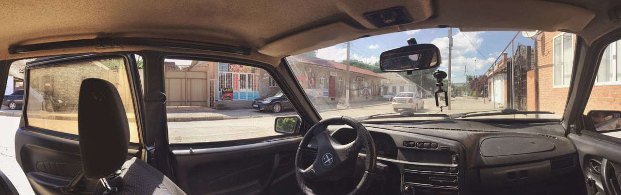 Panorama vaz 2109 Automobile Arhutor Ingushetia Ingushetiya Mode Of Transportation Transportation Land Vehicle Vehicle Interior Day Car Glass - Material Nature City Travel