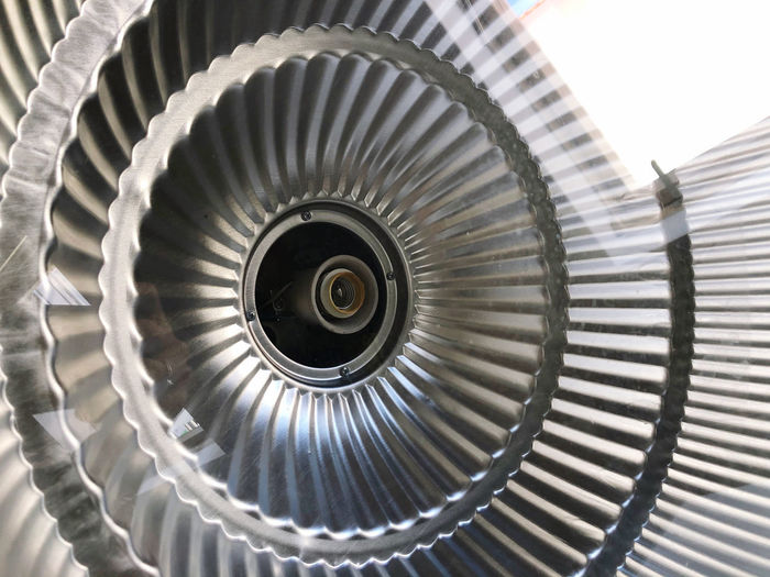 Close-up of spiral staircase