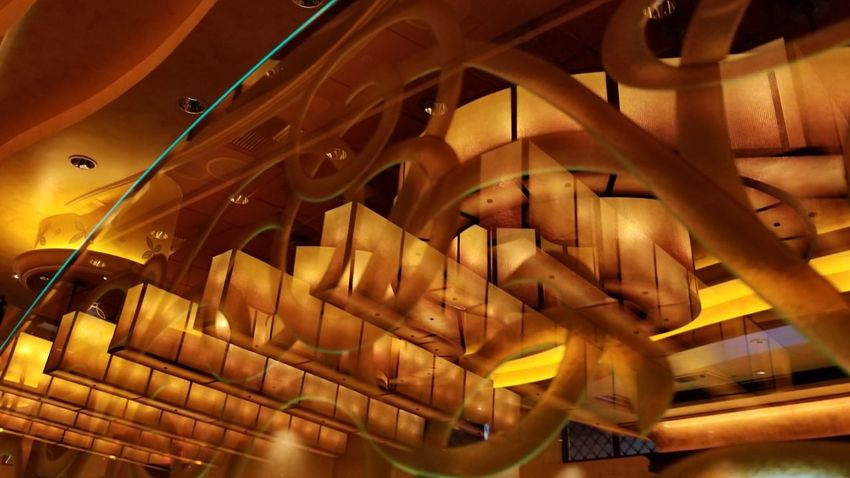 restaurant decor Restaurant Decor Lighting Decoration Lights And Reflections Multiple Reflections Mall Art No People Day Close-up