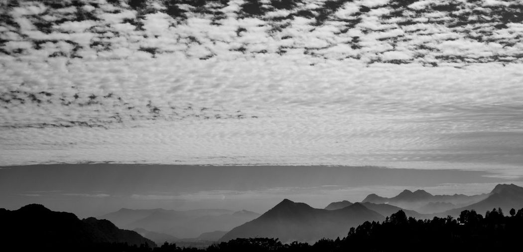 Sea of Mountains Relaxing Remote Mountains Nature Traveling Landscape Exploring Mexico Travel Roadtrip Cloudy Outdoors Landscapes EyeEm Nature Lover Power In Nature Beauty In Nature Monochrome Blackandwhite Mountain Range Mountain Outside Tranquility Non-urban Scene Weather Countryside