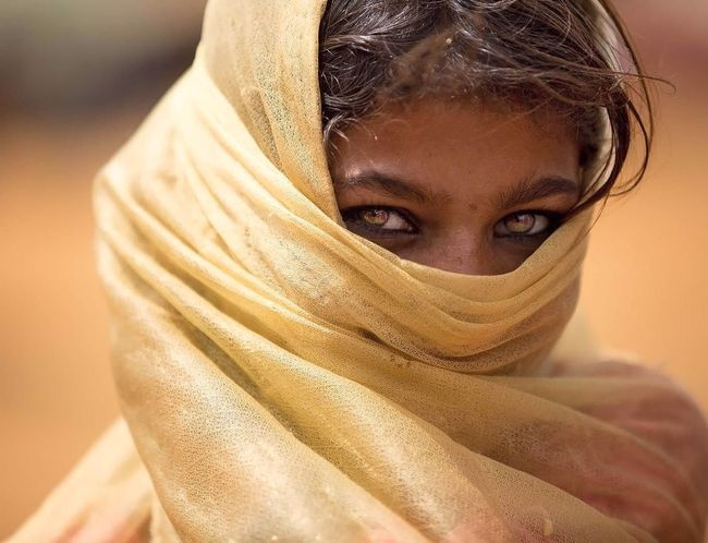 shades of sands Eyes Are Soul Reflection Rajasthani Culture Tribal Unknown Journey Portrait Looking At Camera One Person Women Human Face Front View