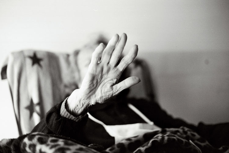 Analogue Photography Home Blackandwhite Fingers Hand Human Hand Indoors  Melancholy No Face No Face, No Name No Photoshop Old Woman One Person Time Passes By Fresh On Market 2017