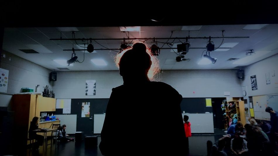 Stage Light Redhead Silhouette Drama Class