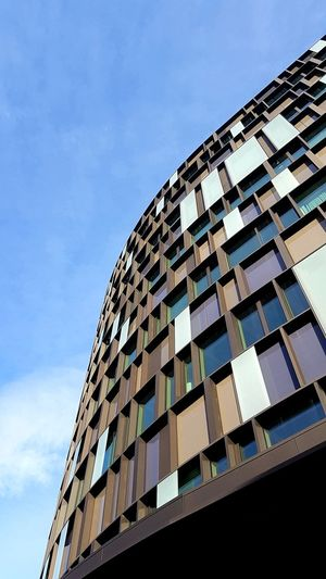 Office Building Modern Architecture Geometry Pattern Windows Looking Up Perspective Street Photography Italy Modern Futuristic City Pixelated Sky Architecture Building Exterior Built Structure Office Building Exterior Geometric Shape Office Building Rectangle