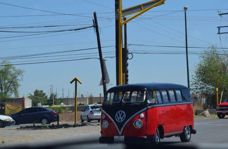 Volkswagen Car Red Black Volkswagen Kombi Transportation