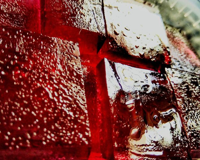 Gelly Gellyty Red Day No People Shadow Close-up Outdoors Car Wash Water