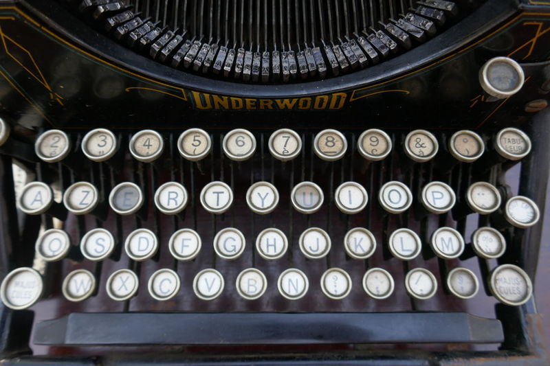 Close-up In A Row No People Old Fashioned Repetition Type Writer Vintage