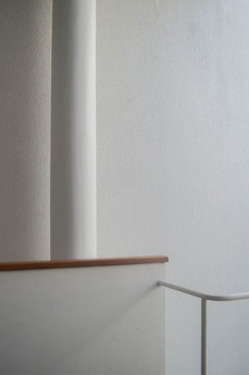 Close-up of white wall in casa curutchet