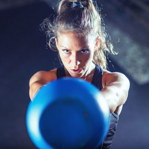 Woman Athlete Exercising with Kettlebell Training Healthy Fitness Gym Exercise Body & Fitness Kettlebell  Health Woman Fit Athlete Workout Muscular Young Female Sport Lifestyle Muscle Strength Strong Weight People Athletic Bodybuilding Adult
