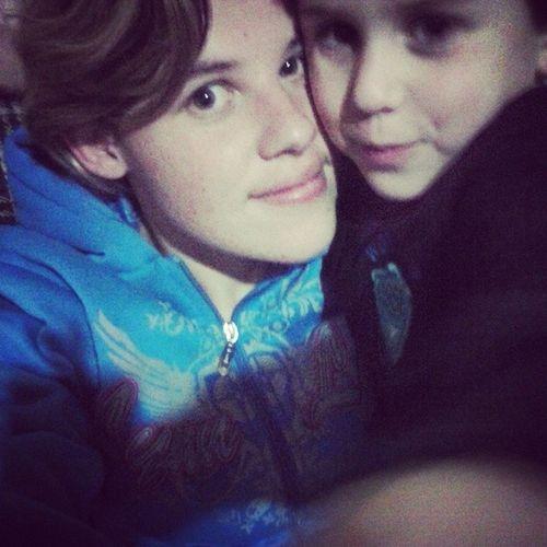 Eu e meu sobrinho Wagner amor da minha vida amo vc meu lindo <3