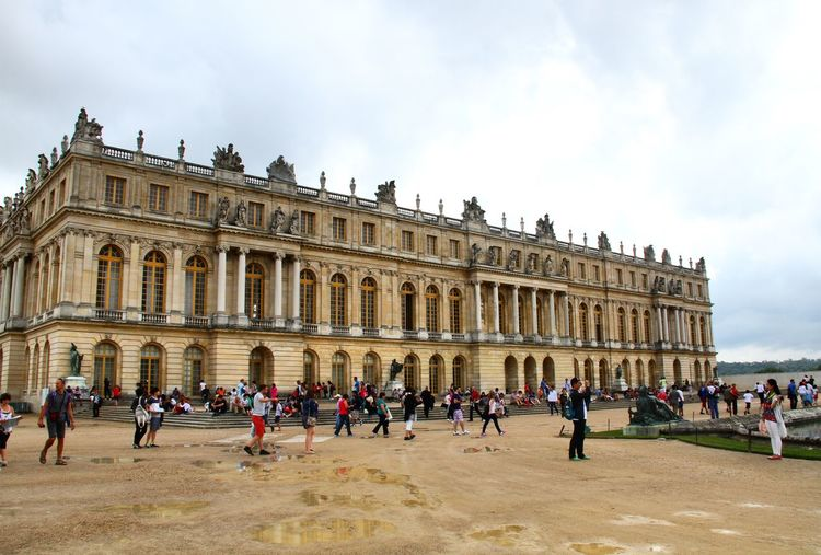 People In Front Of Versailles Castle