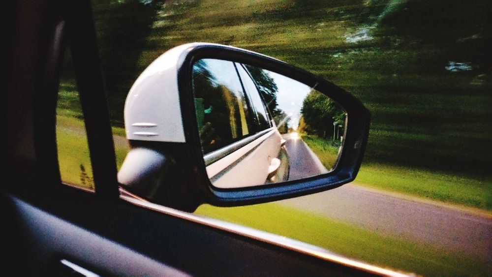 Car Motor Vehicle Land Vehicle Side-view Mirror Nature Day Sunlight Reflection Mode Of Transportation Transportation Mirror Plant Outdoors No People Road Shadow Close-up Metal Playground