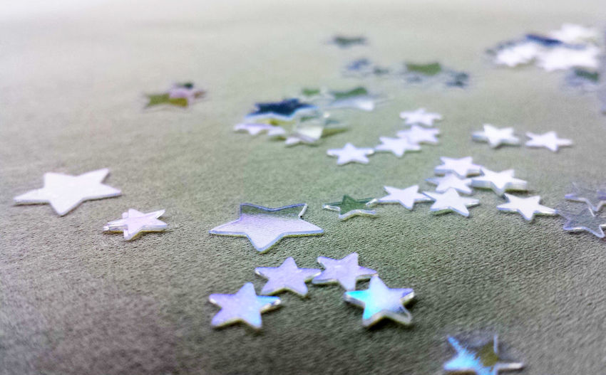 Paper Stars On Gray Surface