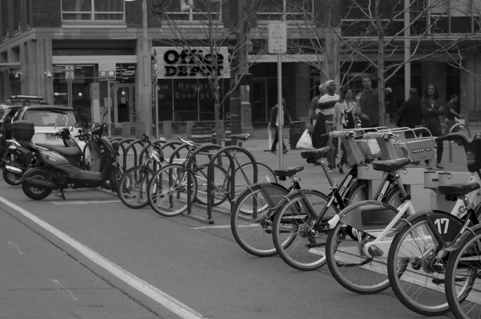 Bicycle Transportation Mode Of Transport Stationary Land Vehicle Building Exterior Street Outdoors City Architecture Cycling Built Structure Men Day One Person People Water Drops. Black And White Canon550D Full Frame Denver,CO 303 Canont2irebel Illuminated Vision303photography Colorado Photography