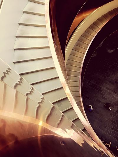 Architecture Staircase Experimentarium Indoors  High Angle View Illuminated Built Structure Shine EyeEmNewHere