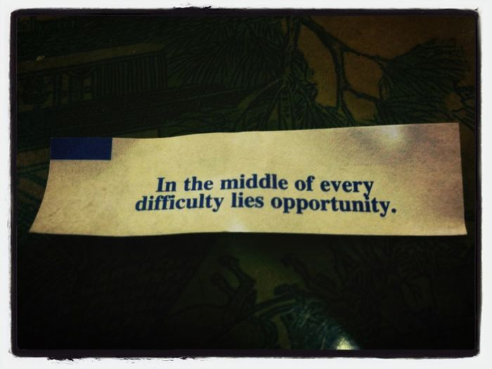 today fortune says!