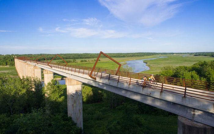 High Trestle Trail Bridge Bridge People Nature Architecture