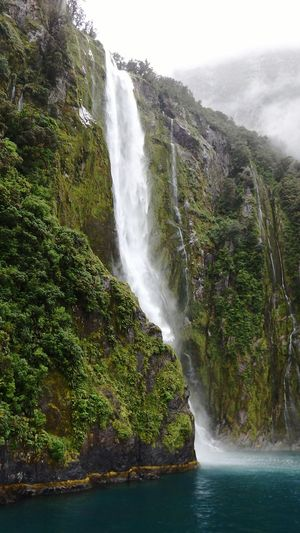 Waterfall - Milford Sound Check This Out New Zealand Nofilter Water_collection Water Sea Ocean Waterfall Waterfall_collection Milford Sound