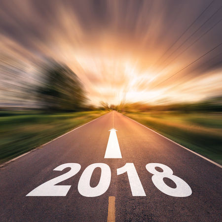 Road and Goals 2018 2018 Go Goals Hope New Target Ahead Asphalt Blur Motion Blurred Motion Close-up Day Future Motion Nature Outdoors Resolution Road Sky Speed Success Sunset The Way Forward Transportation Year