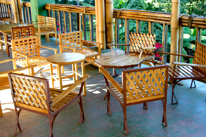 Chair Empty Absence Built Structure Building Exterior Architecture Group Of Objects Outdoors Day Tourist Resort Tourism No People Outside Sea City Life Thailand