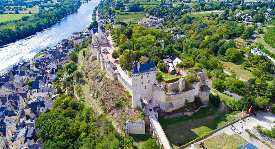 Aerial photo of Chinon castle, Indre et Loire, France Castle Chinon Cityscape EyeEm Best Shots EyeEm Selects France Historical Building Indre Et Loire Royal Fortress Aerial Photography Aerial View Building Exterior Built Structure Day Fortified Wall La Vienne Landscape Medieval Architecture Monument Outdoors River