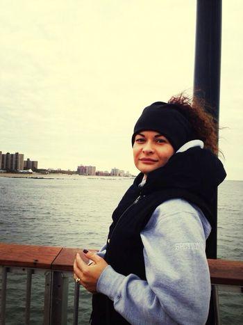 brand new pier. coney lisland. cold