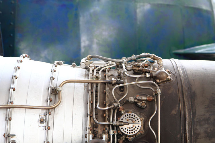 Close-up of jet engine
