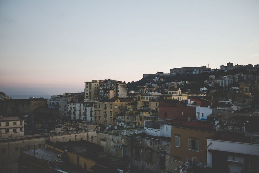 DAMM's rooftop City Cityscape Landscape_Collection Naples Napoli Architecture Building Exterior Built Structure City Citylife Cityscape Cityscapes Clear Sky Damm Day Dusk Dusk In The City Landscape No People Outdoors Sky Skyporn Sunset Urban Urban Skyline The Street Photographer - 2018 EyeEm Awards HUAWEI Photo Award: After Dark