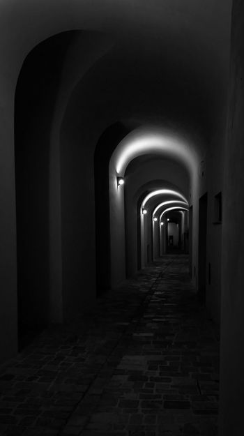 Arch Architecture Built Structure Diminishing Perspective Corridor Building Exterior Paving Stone Vanishing Point Old Town Long No People Archway Small Town Stories Tipicalhouse Igersumbria Volgoumbria Ig_umbria Eye4photography  AMPt_community EyeEmBestPics EyeEm Gallery Scenics Tranquil Scene Tranquility BW_photography