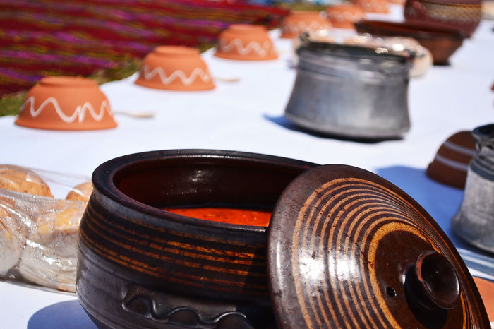 Craftsman Bulgarian Cuisi Ceramic Bowl Craftsman Dish Focus On Foreground Food No People Outdoor Eating Plate Ready-to-eat Soup Soup Bowl Traditional Food