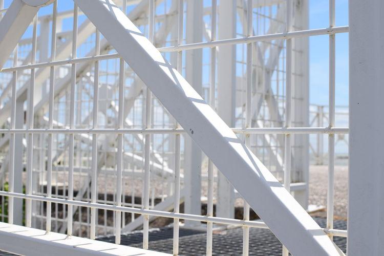 Full frame shot of white built structure