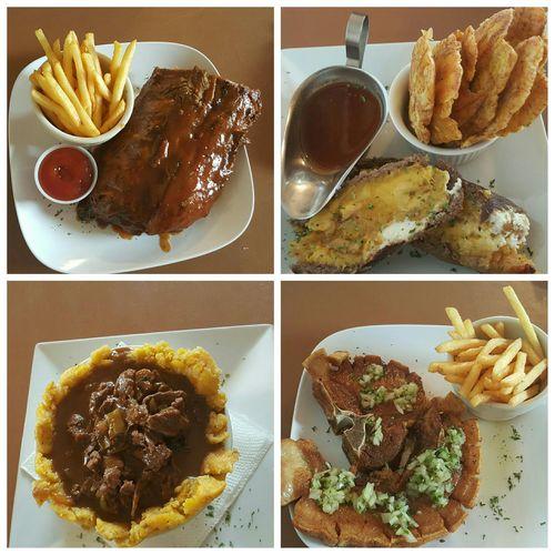 Food Lovers Puertorican Churrasco😊😊✌ Tostones Bbq Ribs Chuleta Kan Kan Family Time Mountain Restaurant