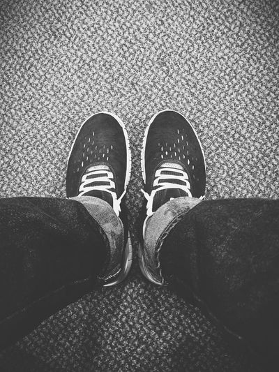 Patiently waiting... Sneakers Shoes Blackandwhite Monochrome