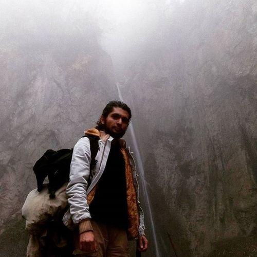 آبشار زیارت گلستان مه و جنگل و کوه و آبان و باران آبان طبیعت