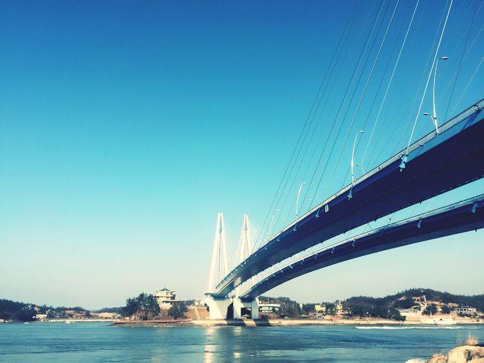 Jeonnam 李舜臣 Bridge Jindo Landscape View Sea Myeongnyang 명량대첩// 진도다리
