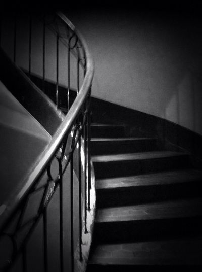 Sobriety  Stairway Light And Shadow Black And White