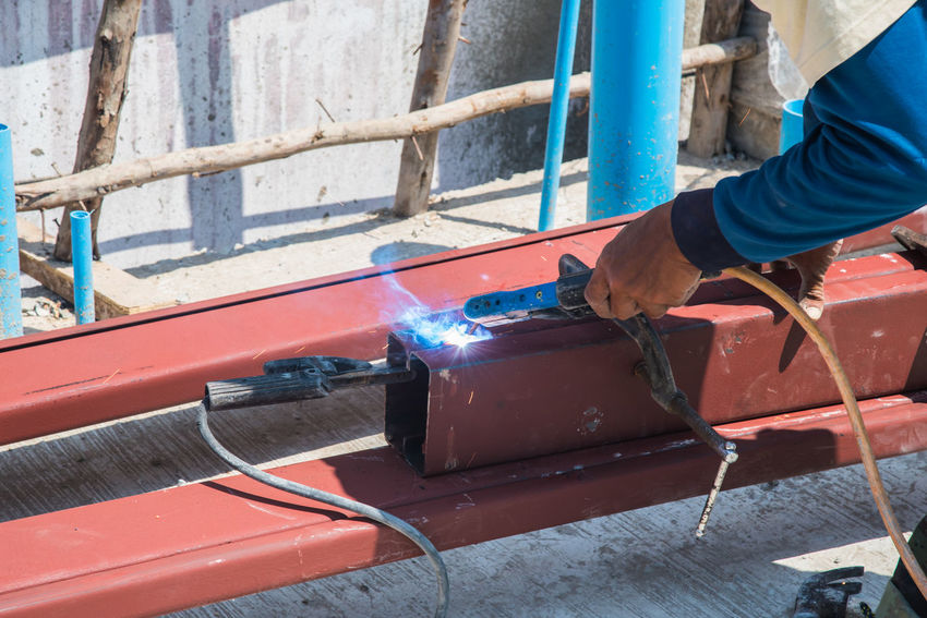 Construction Construction Site Heavy Sparkling Welding Work Worker Building Building Exterior Construction Industry Construction Worker Equipment Job Labor Spark Steel Steel Welding Welding Work Workers At Work