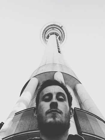 First day in Auckland Selfie under the Sky Tower such a Tourist
