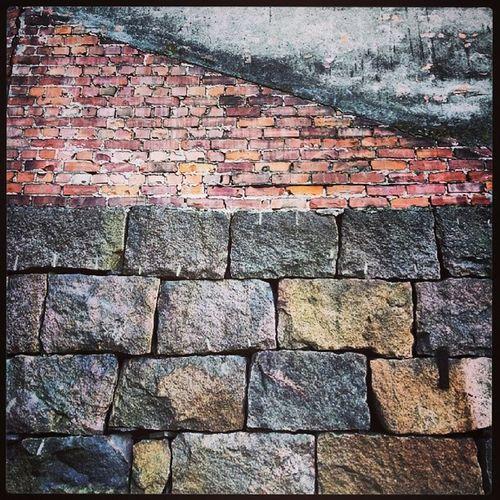 Fredrikstad Oldwall Brick Granitt stone concrete lovely