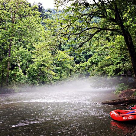 stopping for a break Nantahala Kayaking
