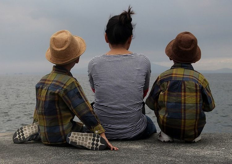 Twin Double Two Son Motherhood Parenthood Family Happiness Happy Twins Replica  Replicant Same  Lookalike Mirror Peace Quiet Moments Twinboys  Hat Stripes Everywhere Checkered Checkered Shirt My Year My View Mother