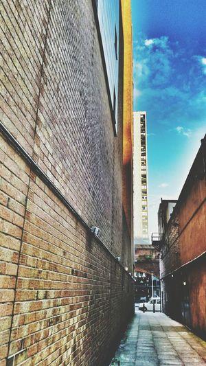 Dark Alley Sunset Manchester