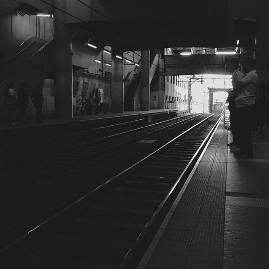 Railroad station platform