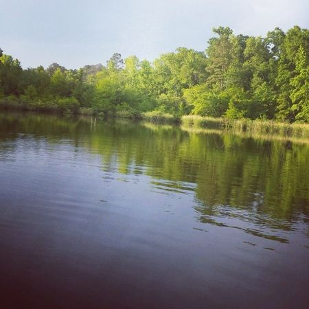 Being in the middle of the lake on a flat bottom boat doesn't fix ANYTHING, but it sure helps me relax!Gonefishing