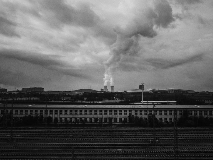 Dalian, Liaoning, China 2017 MelbournePhotographer IPhoneography Mobilephotography ShotoniPhone6s Adobelightroommobile Vscocam Built Structure Sky Architecture Industry Factory Cloud - Sky Pollution Smoke Stack Building Exterior Smoke - Physical Structure No People Environment Chimney Day Outdoors Water City Power Station Nature