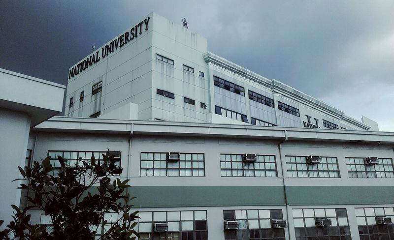 National University 😊😊 Exquisite NationalUniversityPH Building And Sky Almamater