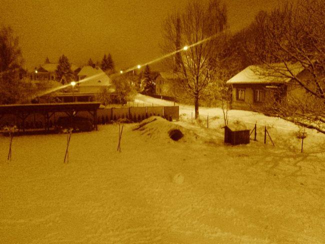 Winter snow snowing Czech