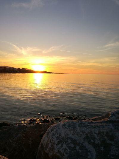 Turkey Yalovasahili Yalova Sky Beauty In Nature Water Sunset Outdoors No People Day Sea Nature Huaweiphotography Sun